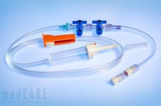 TIVA Set - Rückschlagventile patientennah und vor Infusionsbesteck
