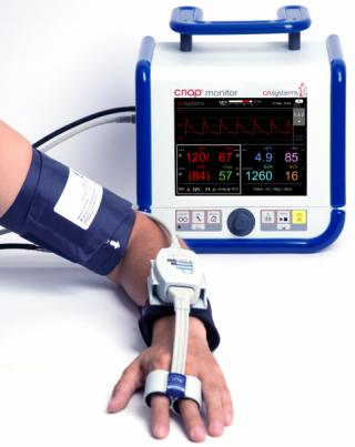 Kontinuierlich nichtinvasiv Blutdruck und Hämodynamik