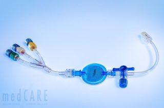 1,2µm Fettfilter mit Verteiler (Rückschlagventile) und 3-WH patientennah.